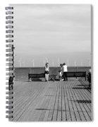 Pier End View At Skegness Spiral Notebook