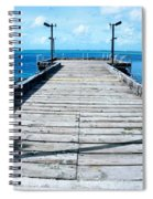 Pier Into The Blue Spiral Notebook
