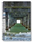 Pier Into The Sunset Spiral Notebook