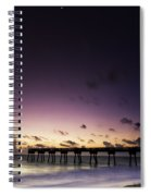 Pier Moon And Venus Spiral Notebook