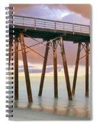 Pier On Beach During Sunrise, Playas De Spiral Notebook