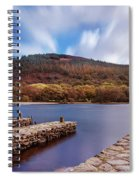 Pier On The Upper Lake In Glendalough - Wicklow, Ireland Spiral Notebook