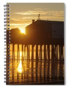 Pier Sunrise Spiral Notebook