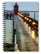 Pier With Lighthouse Spiral Notebook