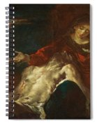 Pieta With Mary Magdalene Spiral Notebook