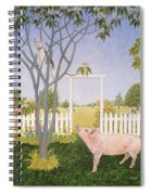 Pig And Cat Spiral Notebook