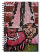 Pig And Sheep Spiral Notebook