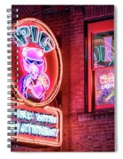 Pig With Attitude Spiral Notebook
