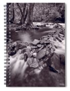 Pigeon Forge River Great Smoky Mountains Bw Spiral Notebook