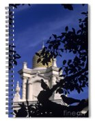 Pigeons Silhouetted Spiral Notebook