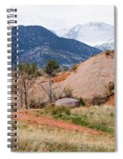 Pikes Peak From Red Rock Canyon Spiral Notebook
