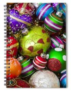 Pile Of Beautiful Ornaments Spiral Notebook