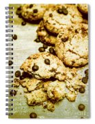Pile Of Crumbled Chocolate Chip Cookies On Table Spiral Notebook