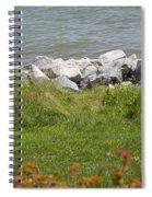 Pile Of Rocks On Shoreline Spiral Notebook