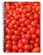 Pile Of Small Tomatos For Sale In Market Spiral Notebook