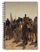 Pilgrims Going To Mecca Spiral Notebook