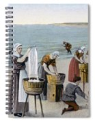Pilgrims Washing Day, 1620 Spiral Notebook