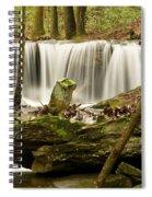 Pillar And Waterfall Spiral Notebook