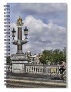 Pillar On The Blue Bridge Spiral Notebook