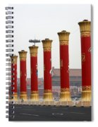 Pillars At Tiananmen Square Spiral Notebook