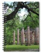 Pillars Of Sheldon Church Ruins Spiral Notebook