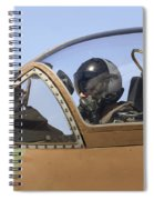 Pilot In The Cockpit Of A Skyhawk Fighter Jet  Spiral Notebook