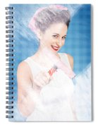 Pin Up Cleaning Lady Washing Glass Shower Door Spiral Notebook