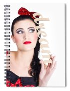 Pin Up Girl Daydreaming  Spiral Notebook