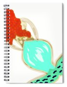 Pin Up Redhead Mermaid Spiral Notebook