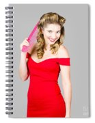 Pin-up Styled Fashion Model With Classic Hairstyle Spiral Notebook