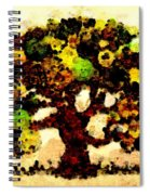 Pinatamiche Tree Painting In Crackle Paint Spiral Notebook