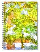 Pine Branch Under Snow Spiral Notebook