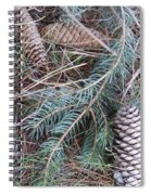 Pine Cone Brush Spiral Notebook