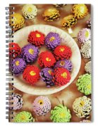 Pine Cone Flower Project Spiral Notebook