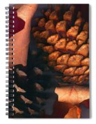 Pine Cones And Leaves Spiral Notebook