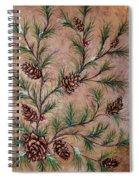 Pine Cones And Spruce Branches Spiral Notebook