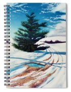 Pine Tree Along The Country Road Spiral Notebook