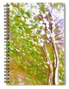 Pine Tree Covered With Snow Spiral Notebook