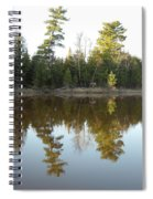 Pine Trees Across Mississippi River Spiral Notebook