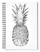 Pineapple Black And White Spiral Notebook