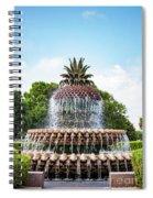 Pineapple Fountain In Charleston South Carolina Spiral Notebook