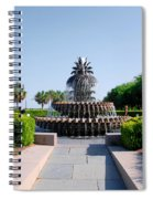 Pineapple Fountain In Charleston Spiral Notebook