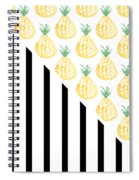Pineapples And Stripes Spiral Notebook