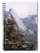 Pines And Flatirons Boulder Colorado Spiral Notebook