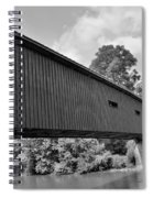 Pinetown Bushong's Covered Bridge Black And White Spiral Notebook