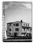 Piney Point Lighthouse - Mayland - Black And White Spiral Notebook