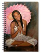 Pink And Brown Spiral Notebook