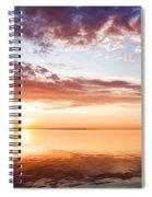 Pink And Gold Morning Zen - Toronto Skyline Impressions Spiral Notebook