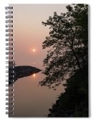 Pink And Green Summer - Soft Misty Sunrise On The Lake Spiral Notebook