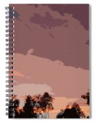 Pink And Mauve Sky Abstract Spiral Notebook